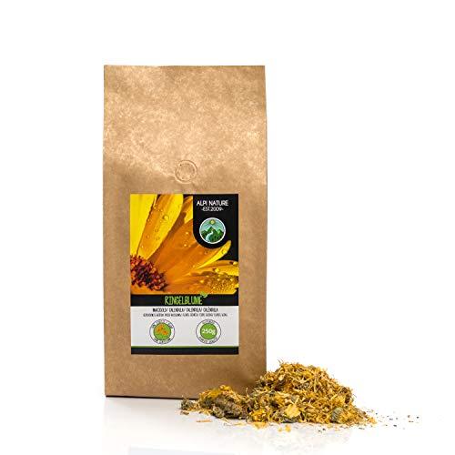 Flores de caléndula (250g), té de caléndula, flores enteras, caléndula de naranja, suavemente seca, 100% pura y natural para la preparación de té, té de hierbas, flores comestibles