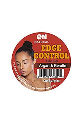 On Natural Edge Control organique Gel cheveux, Argan/Kératine, 1 Unze