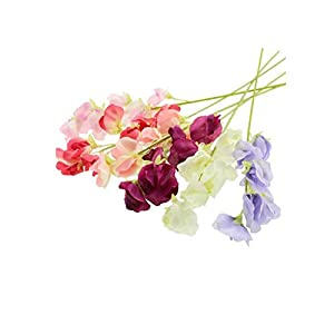 Crafty Capers 49cm Pretty Sweet Pea Stem – Artificial Fabric Flowers