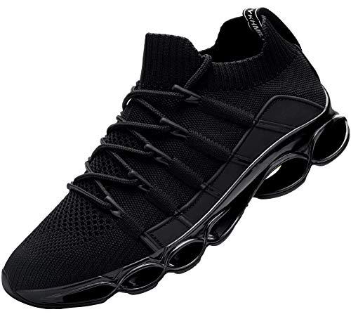 DYKHMILY Sicherheitsschuhe Herren Arbeitsschuhe mit Stahlkappe sportlich Schuhe Leichte Atmungsaktiv(Schwarz,42)