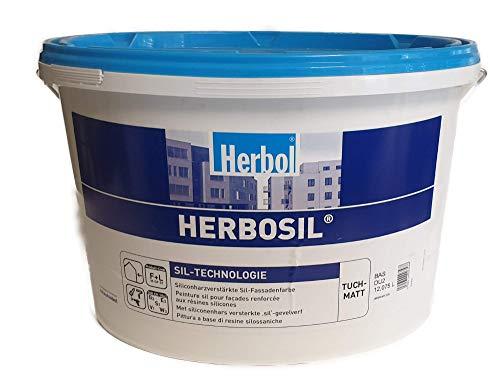 Herbol Herbosil Fassadenfarbe 12,5 Liter Mittelgrau