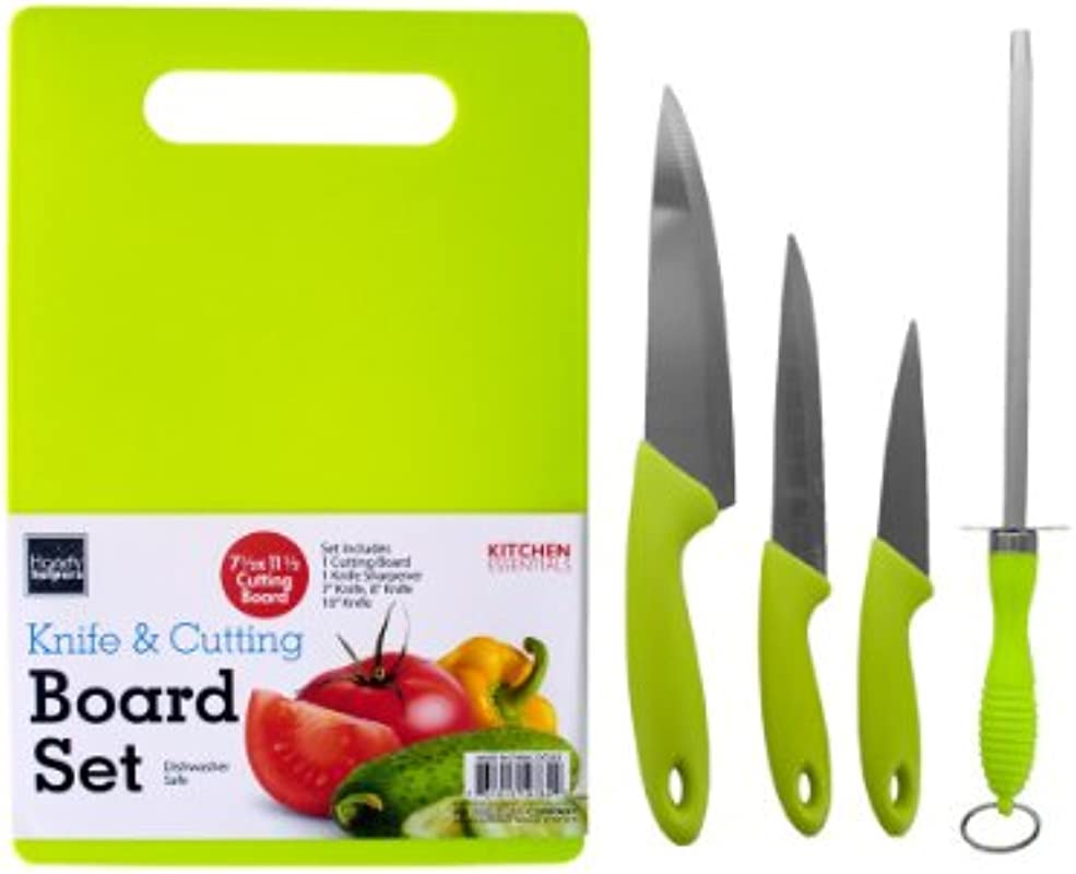 Handy Helpers Bulk Buys 5 Piece Knife Cutting Board Set