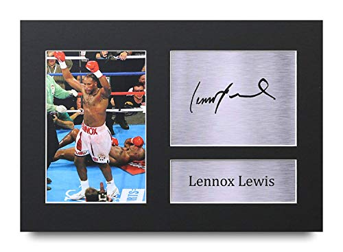 HWC Trading Lennox Lewis A4 Ungerahmt Signiert Gedruckt Autogramme Bild Druck-Fotoanzeige Geschenk Für Boxfans