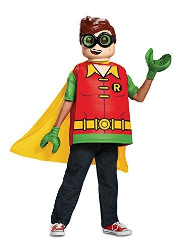 Disfraz clásico de Robin de Batman de Lego para niños de 7 a 8 años