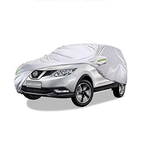 LUXZ-Autoabdeckung Kompatibel mit Nissan Qashqai Autoabdeckung Sonnenschutz AutoTuch Wasserdicht Staubschutzhaube Auto Schutz Winddicht Atmungsaktiv Oxford Automobiles Windshield Cover