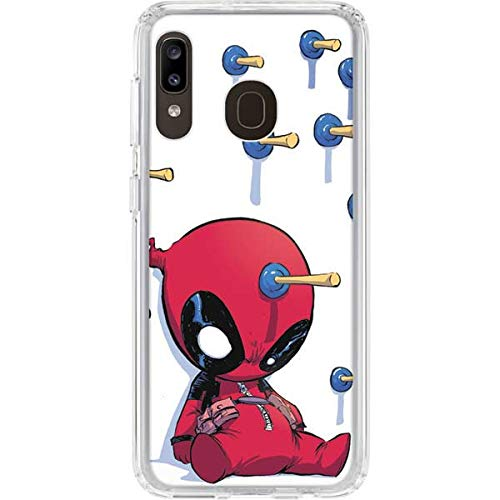 Skinit Clear Phone Case for Galaxy A20 - Officially Licensed Marvel/Disney Baby Deadpool Design