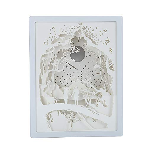 Syfinee Papercut Light Boxes 3D Shadow Box Led Light Night Lamp Art Decoration 3D Paper Carving...