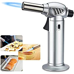 Cooking Camping Soldering Creme Brulee Butane Not Included Kitchen Blow Lighter Refillable Cooking Torch with Safety Lock /& Adjustable Flame for Candle BBQ Baking NILSTOREY Butane Torch