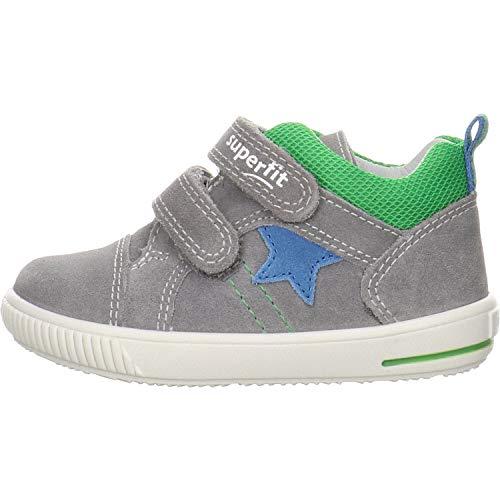 Superfit Baby Jungen MOPPY Sneaker, HELLGRAU/BLAU, 25 EU