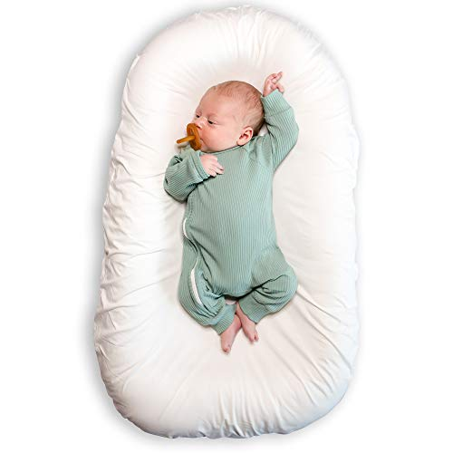 Product Image of the River & Robin Baby Lounger (JoJo) – Newborn Essentials Infant Lounger – 100%...