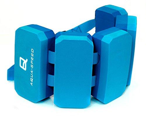 Aqua Speed KINDER SCHWIMMGÜRTEL | 5-teilig | 3-6 Jahre | 18-30 kg | Größenverstellbar | Schwimmhilfe | Schwimmgurt | Wassergürtel | Stützend | Treibend, Farbe:Blau - Navy