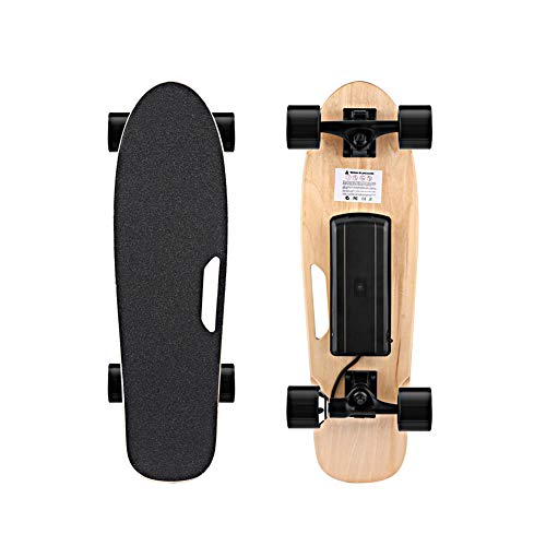 25-Zoll-Elektrisches Skateboard-Longboard Mit Drahtloser Hand-Fernbedienung, Maximaler Bereich Von 15 Meilen, Maximales Lasthaltiges 80Kg, Sieben-Schicht-Ahorn-Longboard, Straßen-Outdoor-Aktivitäten