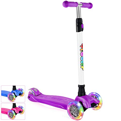 Buy Discount BELEEV Kick Scooter for Kids 3 Wheel Scooter for Toddlers Girls & Boys, 4 Adjustable He...