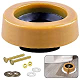 Extra Thick Toilet Wax Ring Kit With Flange And Bolts for Floor Outlet Toilets New Install or Re-seat, Fits 3-inch or 4-inch Waste Lines