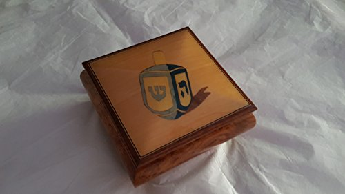 Reuge Musical Jewelry Box - 'Dreidel'