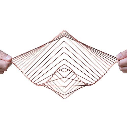 Atellani Square Wave | El fascinante spinner cinético de viento | Pieza mágica calmante arte por Ivan Black (cobre)