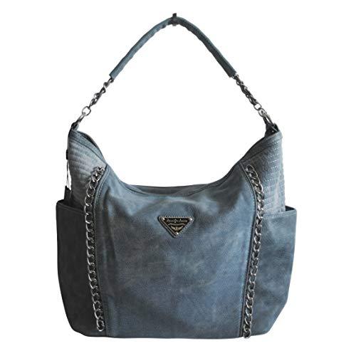 Jennifer Jones - präsentiert von ZMOKA DHAT-4533-BUL, Borsa a spalla donna Blu Azzurro taglia unica