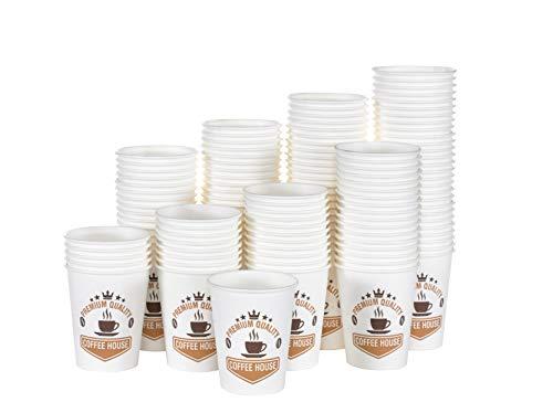 YNS, 400 Vasos de cartón ecológico y Desechables, 4 Onzas,Resistentes al Calor...