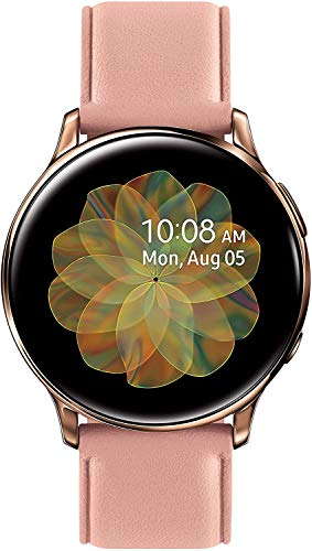 Samsung Galaxy Active 2 R835U Smartwatch 40mm GPS + LTE - Leather Band Rosegold - (Renewed)