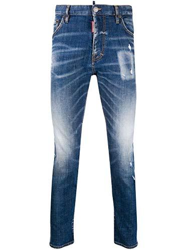Luxury Fashion | Dsquared2 Heren S74LB0716S30342470 Donkerblauw Katoen Jeans | Lente-zomer 20