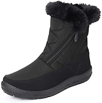 gracosy Waterproof Outdoor Slip On Fur Lined Snow Boots