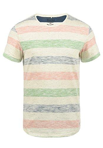 Blend Efkin Herren T-Shirt Kurzarm Shirt Mit Streifen Und Rundhalsausschnitt, Größe:M, Farbe:Denim Blue (74646)
