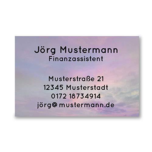 250 Visitenkarten | Himmel Design | 350g hochwertiger Qualitätsdruck matt | 85 x 55 mm | Premium Qualität | verschiedene Motive | beschreibbar | Visitenkarte