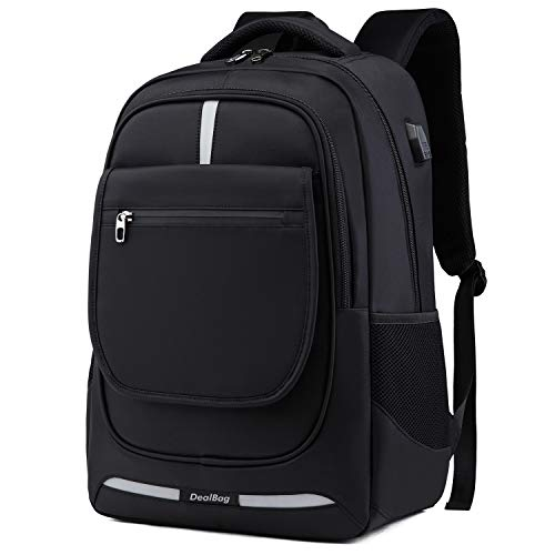 Laptop Computer Backpack,Business Travel Bag Fit 17 Inch Laptops with USB Charging Port (Black)