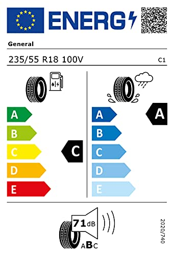235/55VR18 GENERAL TL GRABBER GT PLUS FR 100V *E