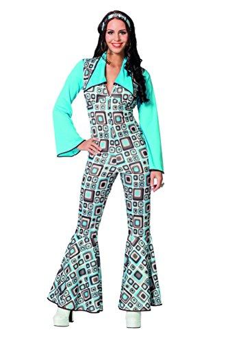 Wilbers 4331 Damenkostüm Hippie Overall Jumpsuit Catsuit Ganzkörper Kostüm Damen Karneval Fasching