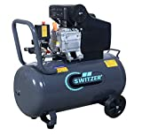 SwitZer Air Compressor 50L Litre LTR Tank 2.5HP 8 BAR Pressure 230V 50HZ 9.6CFM with Wheel Handle Grey AC001 New