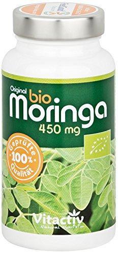 ORIGINAL BIO MORINGA, das Nährstoffwunder in einer Kapsel, perfekte Zusammensetzung aller wichtigen Nährstoffe, hochdosiertes Bio Moringa Oleifera (90 Kapseln, 3-Monatspack)