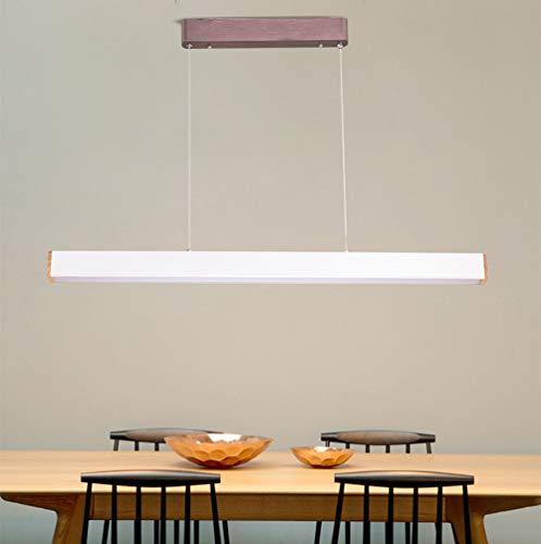 Moderne eettafel lamp hanglamp LED kantoor hanglamp langwerpig rechthoekig design in hoogte verstelbaar aluminium en acryl lampenkap hanglamp voor restaurant woonkamer wit 22W warm licht L98 cm