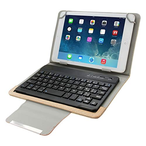 GLXC AYDD Universal Leather Case with Separable Bluetooth Keyboard and Holder for 7 inch Tablet PC (Color : Brown)