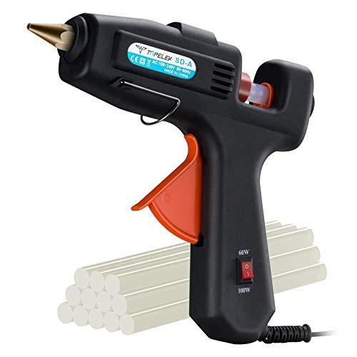 Hot Glue Gun, TOPELEK 60/100W Dual Power High Temp Heavy Duty Professional...