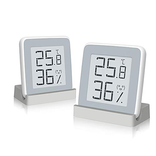 Homidy 2er Pack Hygrometer Digital Thermometer Innen,E-Ink HD Display Digital Thermo-Hygrometer innen Feuchtigmesser