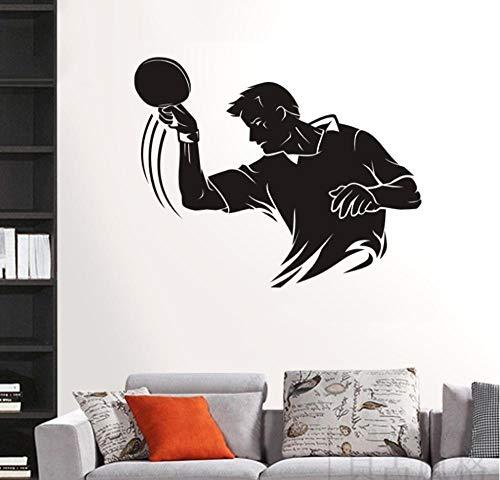 Wandtattoos Tischtennis Aufkleber Ping Pong Sport Aufkleber Poster Vinyl Wandtattoos Dekor Wandbild Tennis Aufkleber 116X145 Cm