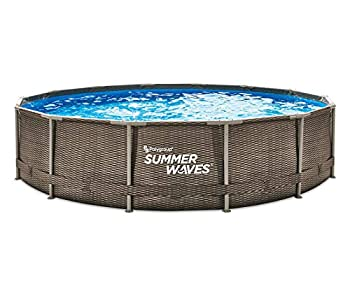 Summer Waves 14ft x 36in Wicker Metal Frame Pool Set