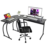 ZenStyle L-Shape Corner Computer Desk Home Office PC Laptop Table Multipurpose Gaming Workstation with Solid Steel Frame/Waterproof Desktop
