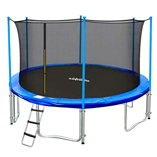 Zupapa 15FT 14FT 12FT Kids Trampoline 425LBS Weight Capacity with Enclosure net Include All Accessories Outdoor Backyard Trampoline…