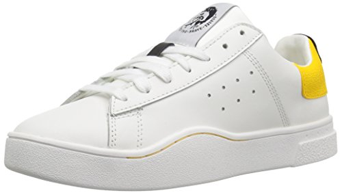 Diesel Damen S-CLEVER Low W-Sneakers Turnschuh, White/Lemon Chrome, 39 EU