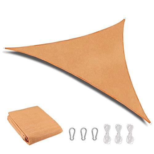 HALOVIE Tenda a Vela Triangolare 3x3x3m, Tenda da Esterno in Tela Vela Ombreggiante Impermeabile e Anti UV per Terrazza Giardino Pergola Balcone Patio Bar