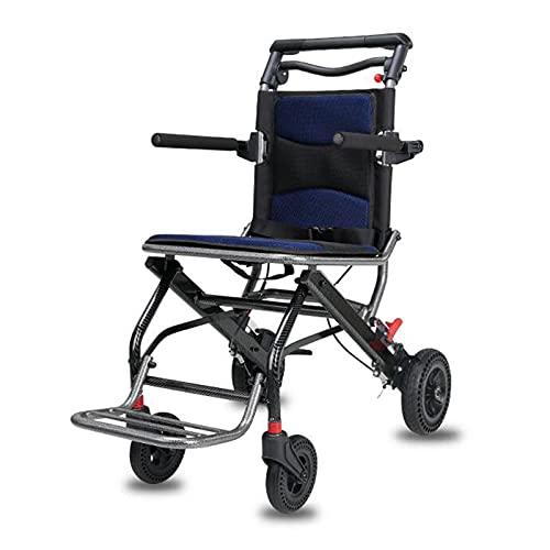 Multifunktionaler Pflegerollstuhl, Patiententransferhilfe Pflegerollstuhl Leichter Faltrollstuhl mit Rädern, für Behinderte und ältere
