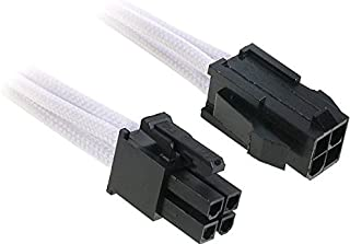BitFenix 45cm 4-Pin ATX12V Extension Cable - Sleeved White/Black