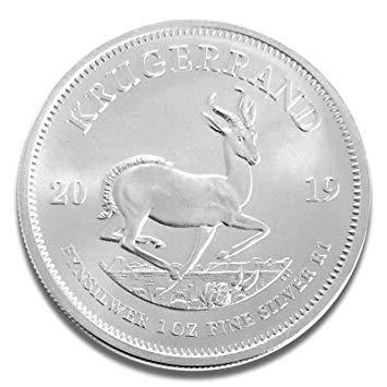 1 oz zilveren kruisrand 2019, afzonderlijk verpakt in muntcapsules.