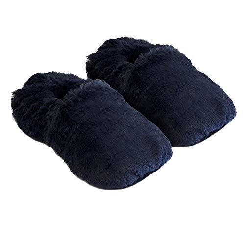 Thermo Sox aufheizbare Hausschuhe Gr L 41-45 / Marineblau Körnerpantoffeln für Mikrowelle und Ofen - Mikrowellenhausschuhe Wärmepantoffeln Wärmehausschuhe Supersoft