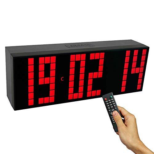 XHCP Temporizador de intervalo de Gimnasio, Pantalla LED Reloj electrónico Cronómetro Temporizador de intervalo Reloj de Pared preciso Reloj Deportivo Crossfit Tempo