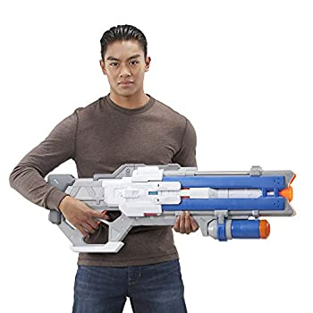 NERF Overwatch Soldier  76 Rival Blaster -- Fully Motorized Lights Recoil Action 30 Overwatch Rival Rounds -- for Teens Adults
