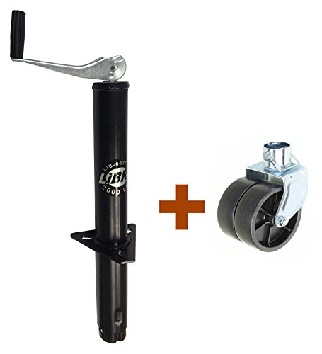 LIBRA New 2000 lbs A Frame Topwind Trailer Camper RV Tongue Jack with 6