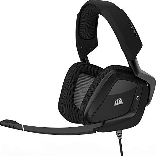 Corsair Void PRO RGB Gaming Headset (PC, USB, Wireless, Surround, Dolby 7.1), Farbe:Carbonschwarz, Serie:Surround (Generalüberholt)